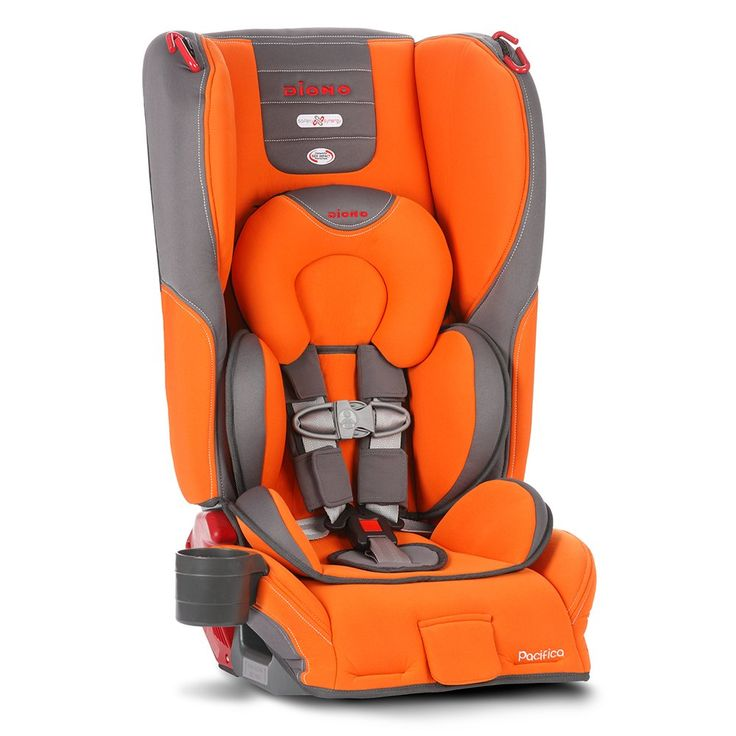 Supposed to be narrow, space-saving carseat so there'd be more room. Ae.    Diono Pacifica Convertible Plus Booster Seat with Body Pillow, Sunburst
