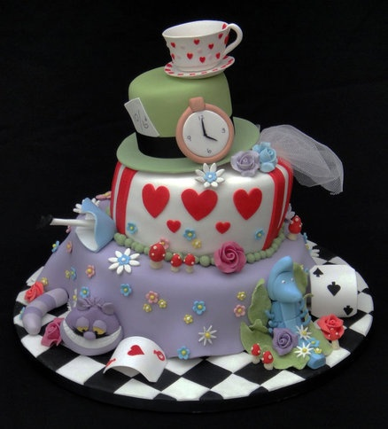 Madhatter Novelty Cake 2 Cake by FancyCakesbyLinda