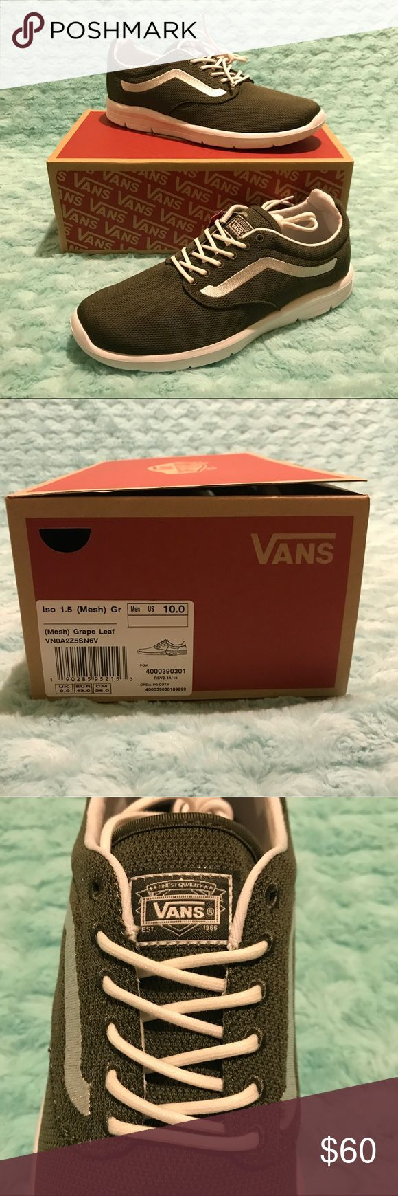 Vans Iso 1.5 Mesh Grape Leaf Mens Lace Up Trainers Vans Iso 1.5 Mesh Grape Leaf Mens Lace Up Trainers Lightweight New Size US 10  MENS US size 10  NEW in box!  Please see pictures, Thank you! Vans Shoes Sneakers
