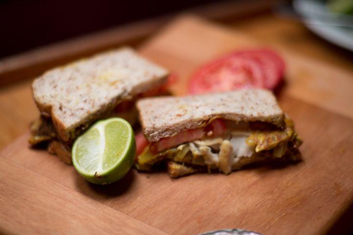 Stuart's Fijian Fresh Fish Omelette Sandwich