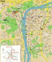 Prague (Praha) Tourist Map