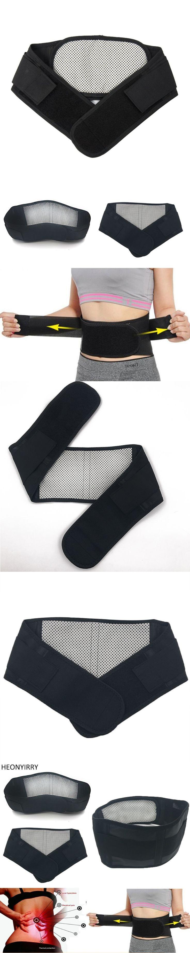 Adjustable Tourmaline Self-heating Magnetic Therapy Waist Belt Lumbar Support Back Waist Support Brace Double Banded faja lumbar