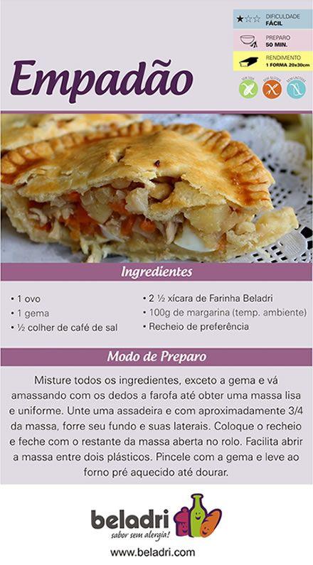Receita de Empadão sem Glúten! Confira mais receitas sem glúten no nosso blog: https://www.emporioecco.com.br/blog/receitas-sem-gluten/