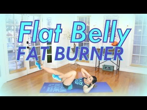 Flat Belly Fat Burner | POP HIIT - YouTube