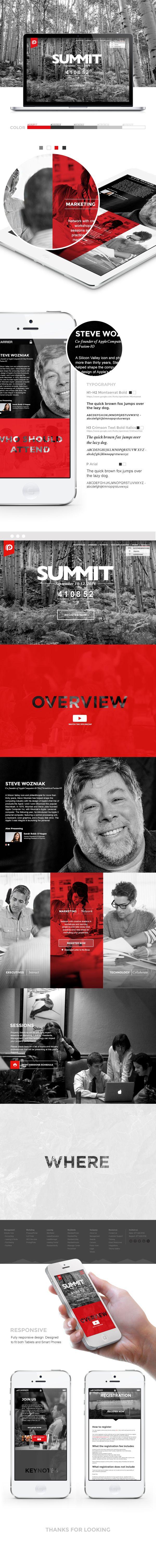Responsive Summit Web Design by Josh Mendenhall, via Behance