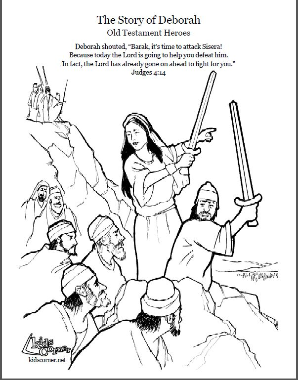 deborah bible coloring page - 60 best deborah the judge images on pinterest sunday
