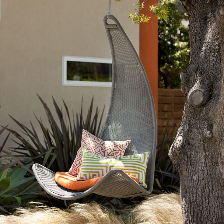 Urban Balance Curve SilverOutdoor Chairs, Swings Chairs, Dreams House, Urban Balance, Reading Chairs, Curves Chairs, Hanging Chairs, Outback Company, Balance Curves