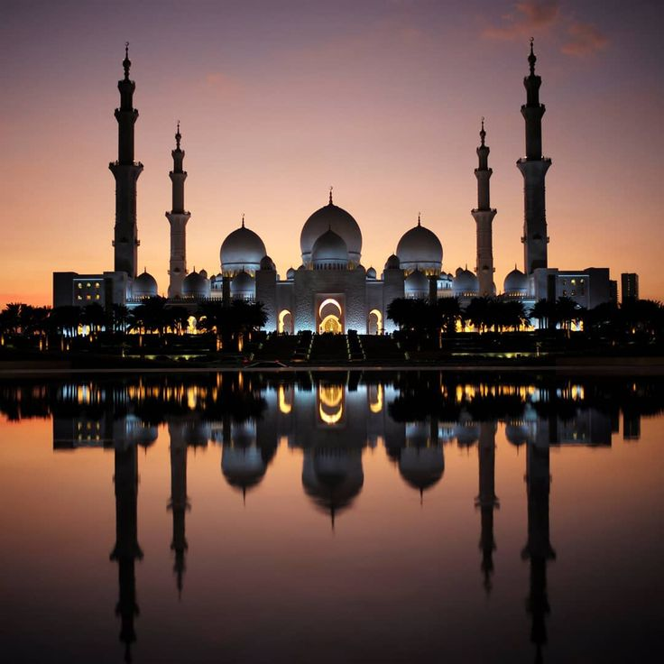 The Sheikh Zayed Grand Mosque, Abu Dhabi, United Arab Emirates. Photo taken Dece…