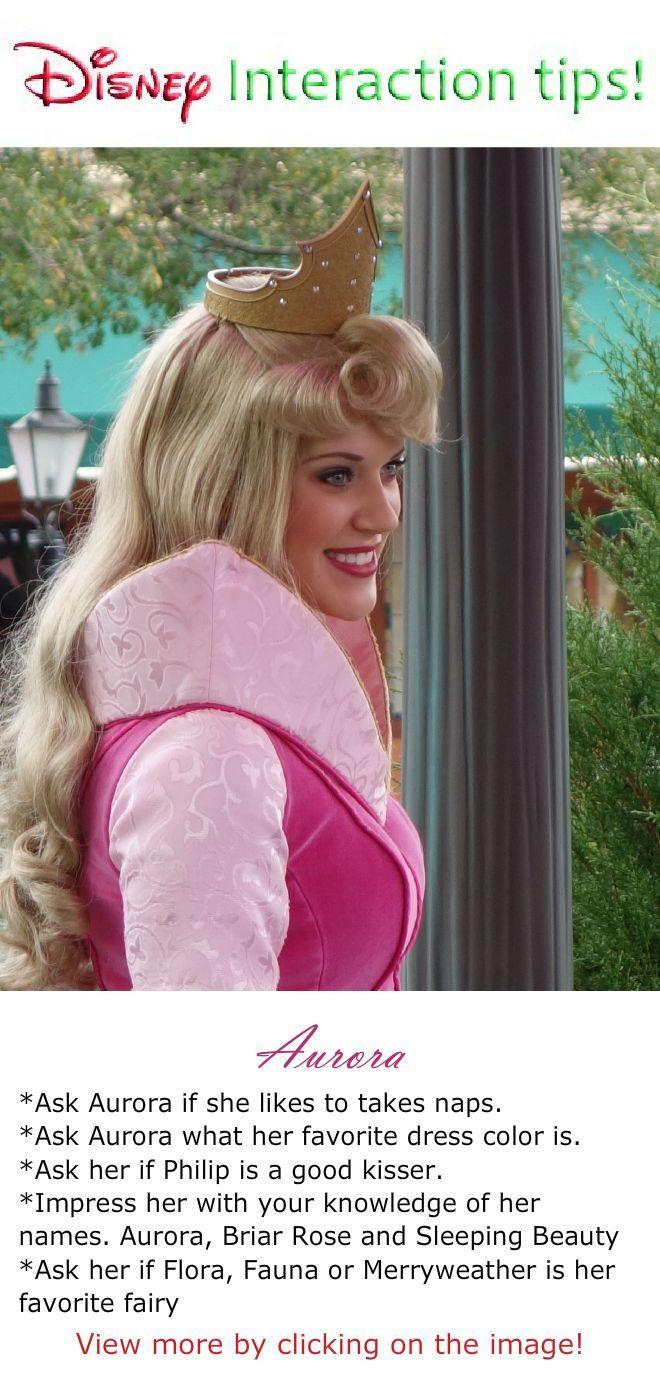 Princess Aurora Disney Character Interaction Tips