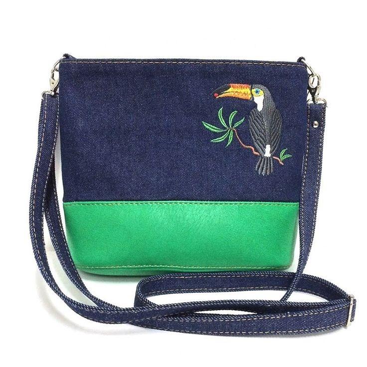 Женская сумка из комбинированных материалов «Тропикана» | Tizetta | Торжокские золотошвеи