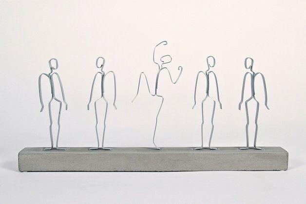Deko-Objekte - Skulptur Aus der Reihe tanzen! - ein Designerstück von invocem bei DaWanda