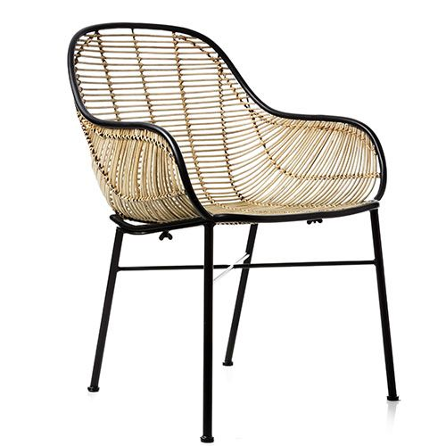 Cebu Rattan Bucket Chair Natural