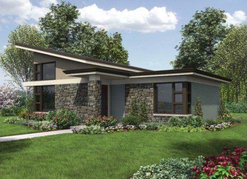 Casa Contemporanea-Moderna de un dormitorio