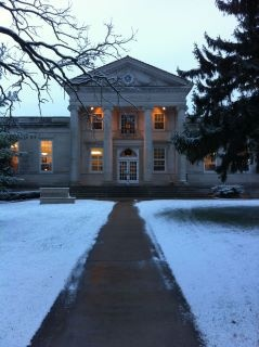Ripon College in the snow