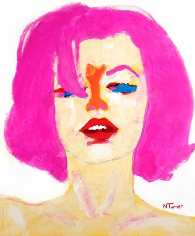 "Neal Turner; Oil, 2011, Painting ""Marilyn Monroe"""