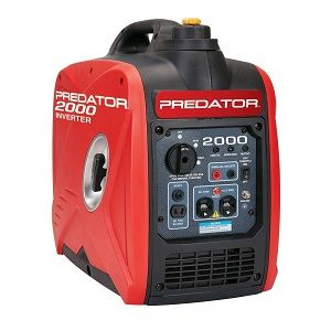 Predator 2000 watt Portable Gasoline Generator Inverter - This popular small quiet Predator 2000 watt generator is lightweight and ideal for use as portable power for boating, camping, sump pumps, tailgating, RV or home use.