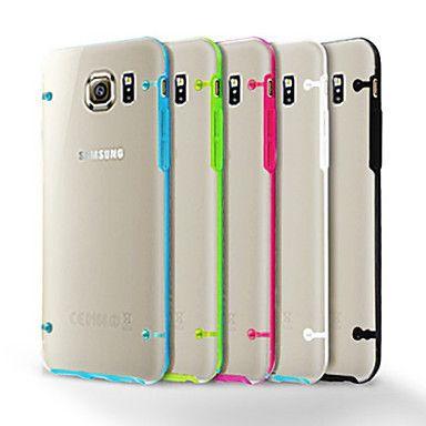 Phát sáng trong bóng Tối Sang Trọng Luminous Case Cho Samsung Galaxy S6 G9200 mềm TPU Trường Hợp Trong Suốt Rõ Ràng Back Cover Cho Galaxy S6 Vàng đỏ