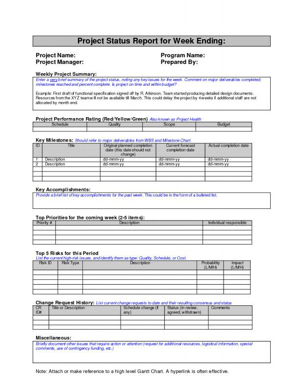 Monthly Program Report Template New Daily Project Status Report Template Excel Mple Format In W Project Status Report Progress Report Template Timeline Project