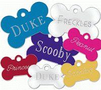 101 mascotas: Placas identificacion para mascotas
