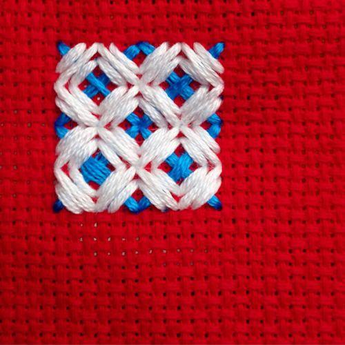 Triple Rice Stitch Embroidery Filler Stitch Tutorial Badass Cross Stitch