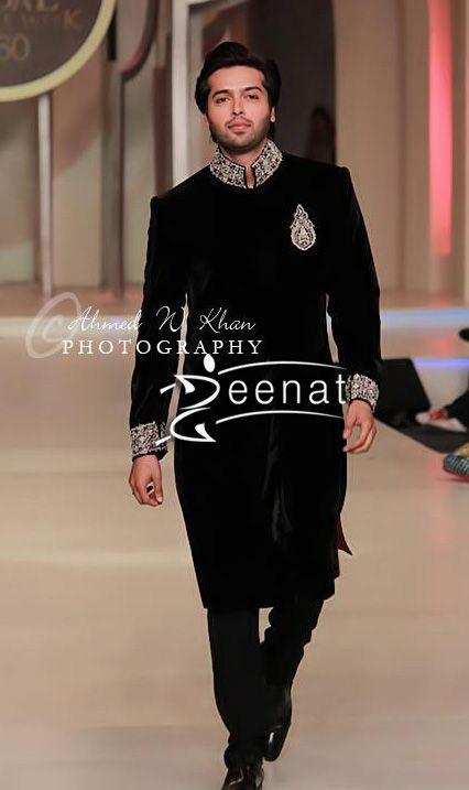 Fahad Mustafa, Pakistani actor and tv host, In Designer Zainab Chottani