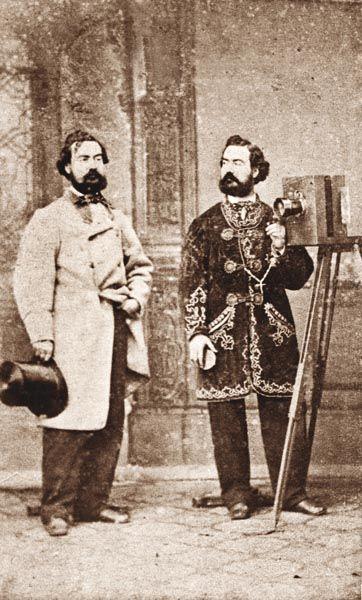 Retrato doble de Antonio Fernandez Napoleón. 1855. Colección particular. (via elpais.com)