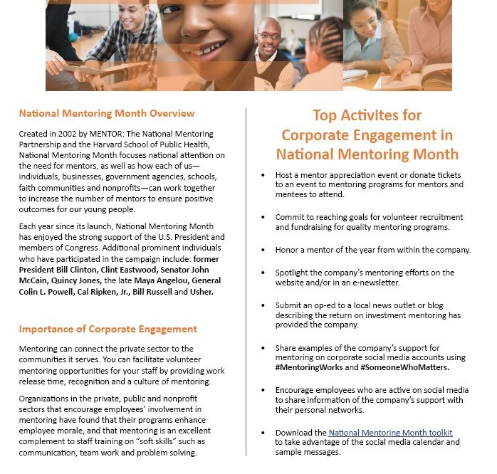 month personal mentoring relationship