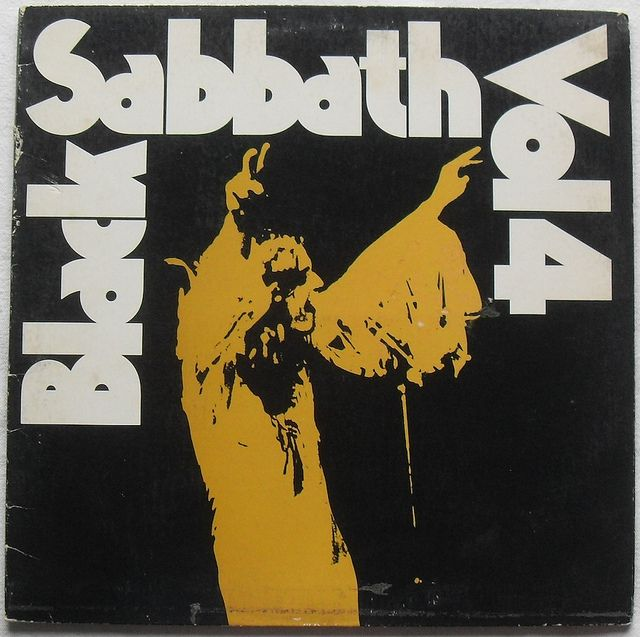 1972 BLACK SABBATH Vol. 4 1970s vinyl LP record album sleeve