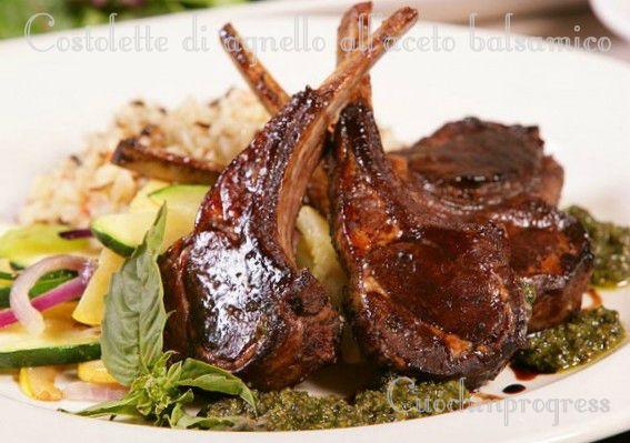 Costolette+di+agnello+all'aceto+balsamico