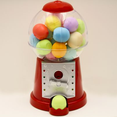 The most fun DIY way to hold all your #eos lip balm flavors. Want this little gumball machine