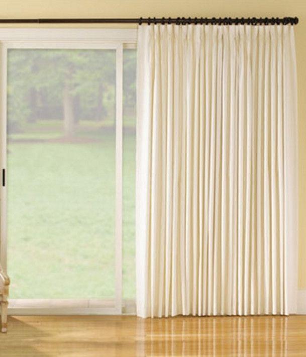 10 best sliding door curtains images on pinterest sliding door curtains blinds and for the home. Black Bedroom Furniture Sets. Home Design Ideas