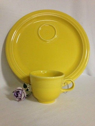 Sunflower Fiesta 174 Welled Snack Plate With Cup By Homer