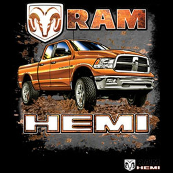 vintage licensed dodge ram hemi truck adult t shirt choose shirt color black gray navy blue. Black Bedroom Furniture Sets. Home Design Ideas