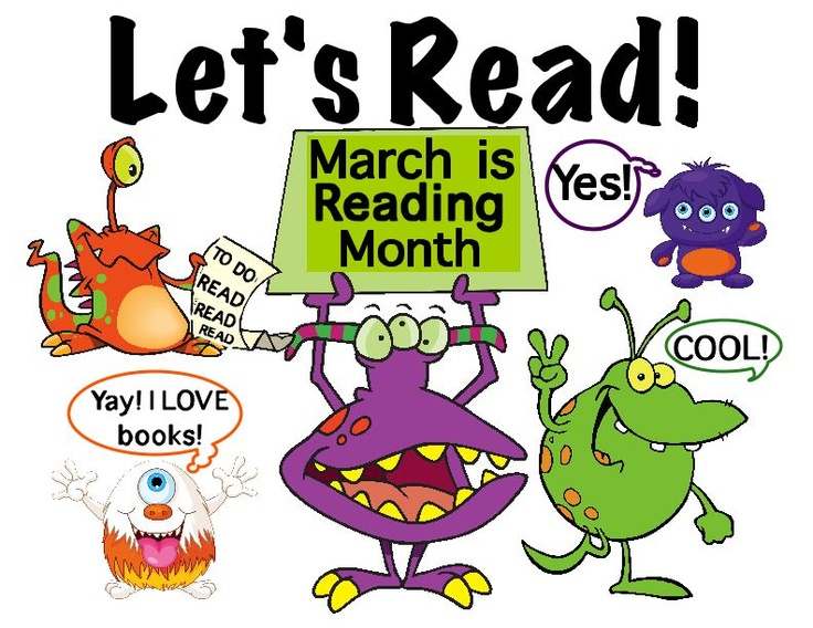 Image result for march is reading month