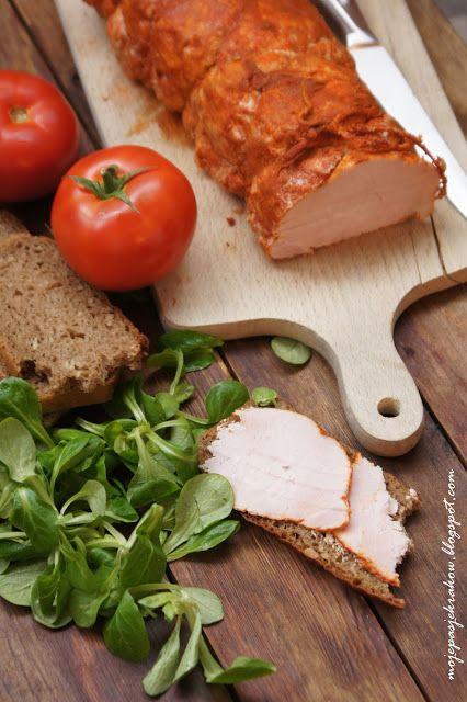 moje pasje: Schab po węgiersku z piekarnika - wędlina kanapkowa