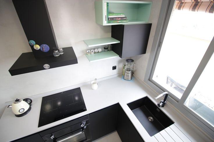Electrodomésticos Negros #diseñosdecocinasenmadrid #linea3cocinas