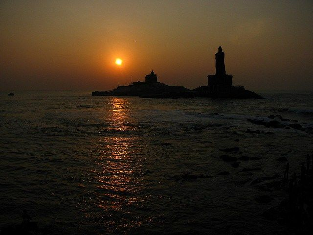 Glorious sunrise kanyakumari India