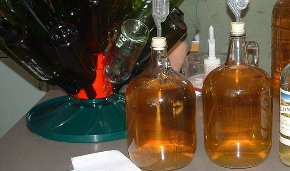 banana wine, sounds really good, but takes over two years to age