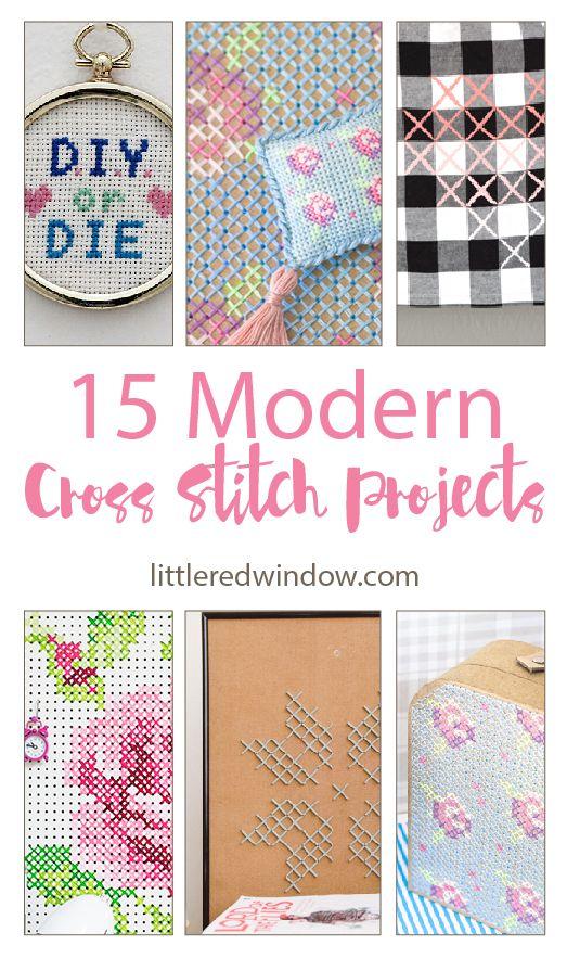 15 Modern Cross Stitch Projects