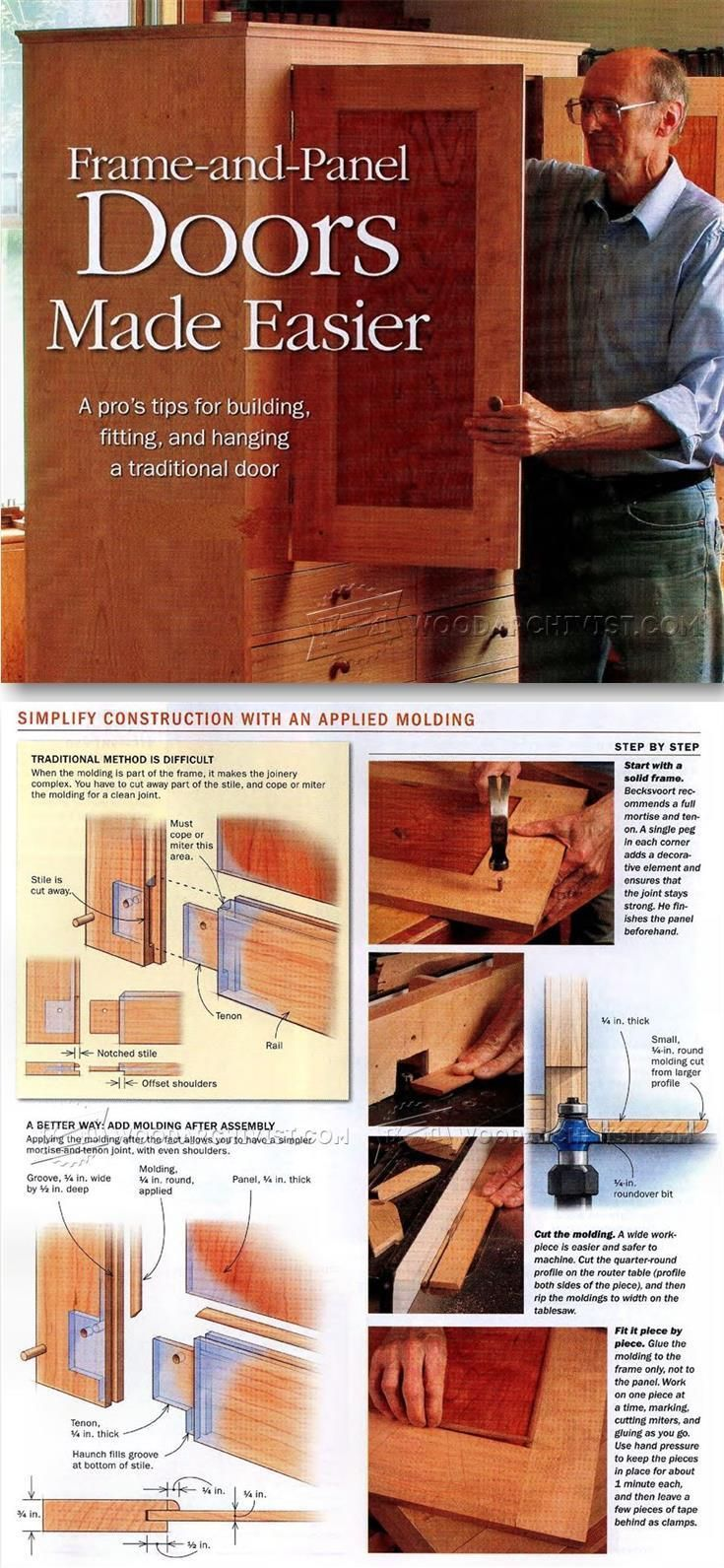Making Frame and Panel Doors - Cabinet Door Construction Techniques | WoodArchivist.com