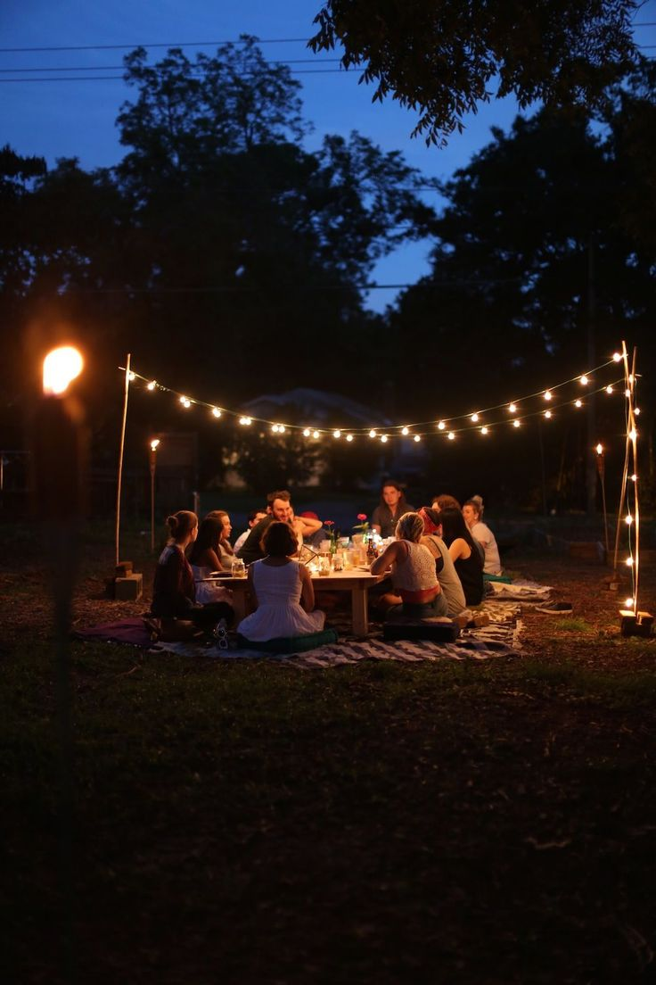 Dreamy outdoor get together.