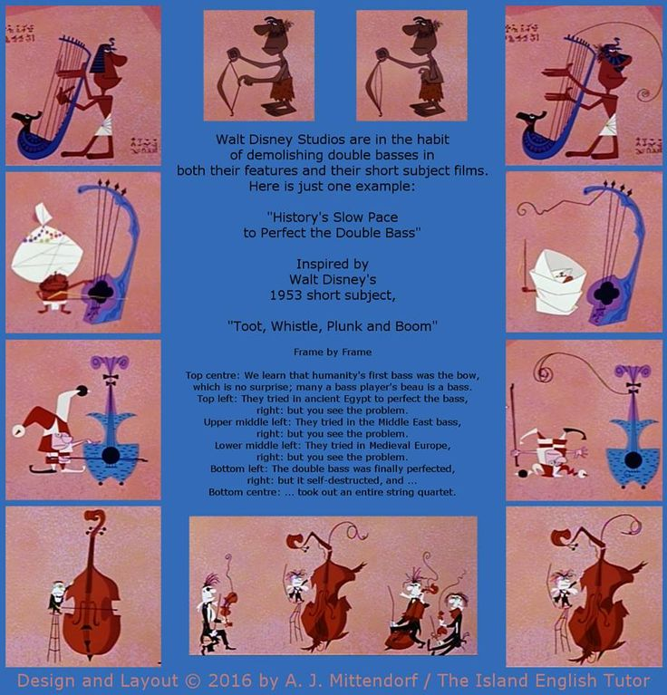 """From Disney's 1953 short subject, """"Too, Whistle, Plunk and Boom."""""""