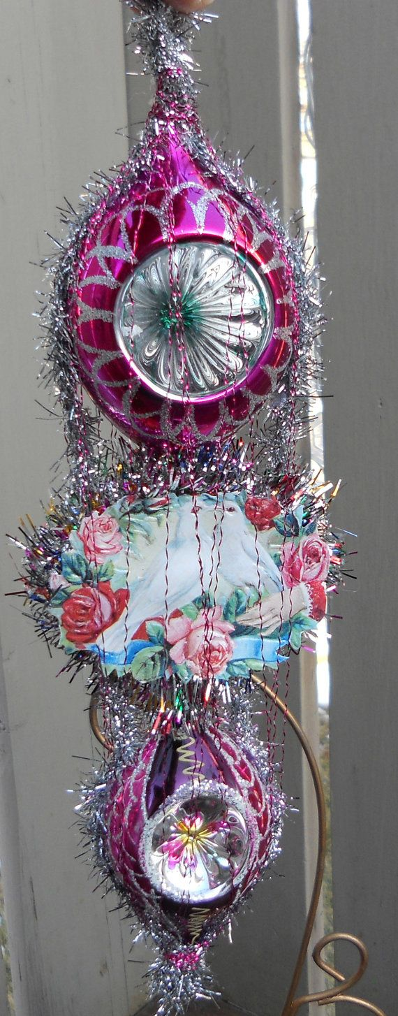 Victorian christmas decorations diy - Dresden Wire Wrapped Victorian Christmas Ornament