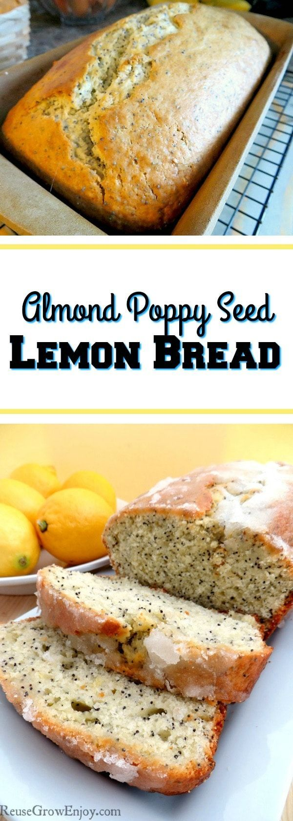 If you like lemon, be sure to check out this amazing Almond Poppy Seed Lemon Bread Recipe! It is so good, you will be coming back for more!