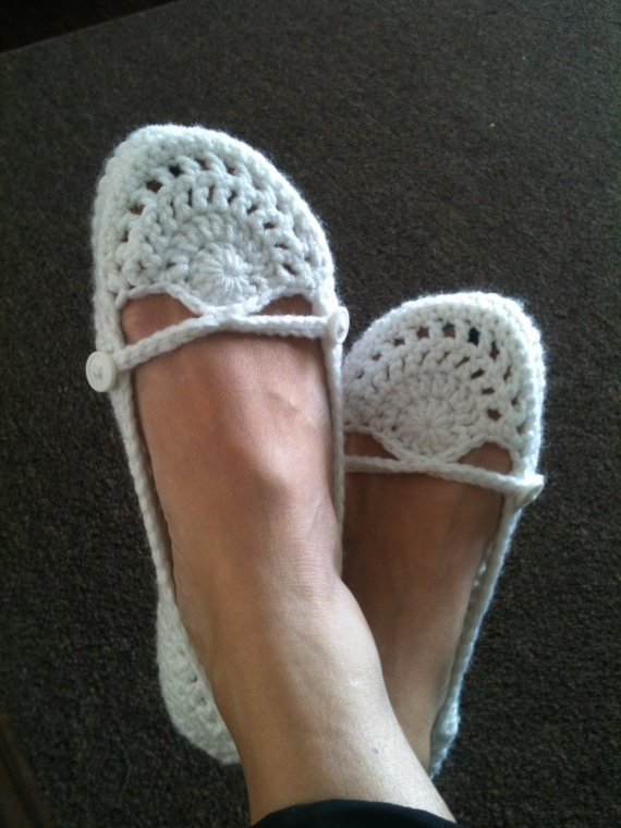 Crochet Ballet Flats by RuffledEdges on Etsy, $21.00