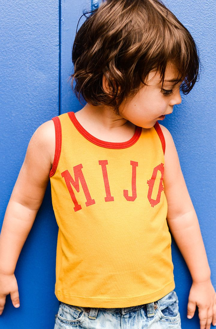 Mijo Tank Top by Hatch For Kids We did it. The first tank top made for every little boy in the world. ···· *PLEASE NOTE: Size 6, 10 & 12 have mislabeled tags, and are available at a discounted price!