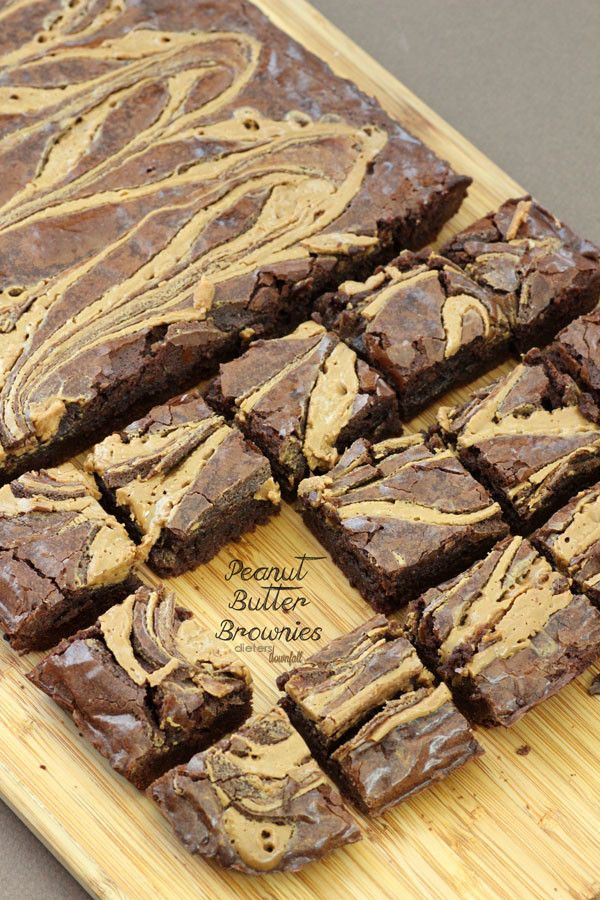 Peanut Butter Brownies | Recipe | Peanut Butter Brownies, One Pot and ...