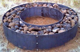 Double Ring Steel Fire Pit -Campfire Ring