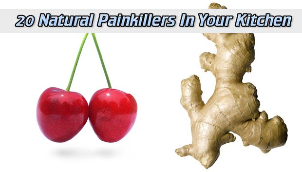 20 Natural Painkillers In Your Kitchen Read HERE --- > http://www.livinggreenandfrugally.com/20-natural-painkillers-in-your-kitchen/