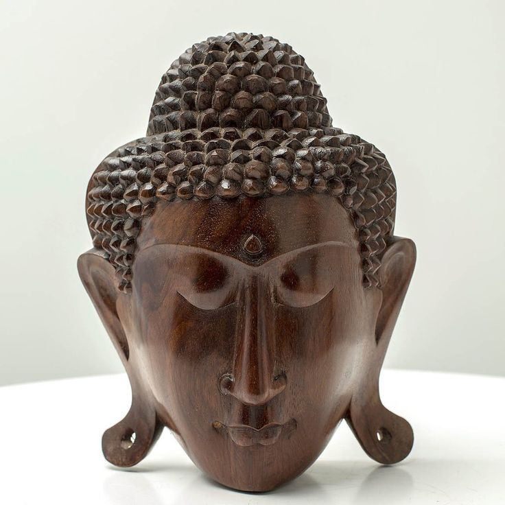 Buddha Head Perfection - Handcrafted wood sculpture from Bali. Spiritual decoration for unique places... Lord Buddha Head Sculpture with smooth finish on Suar Wood. #art #bali #balinese #handcrafted #decoration #decorativeart #dekor #elyapımı #woodart #zanaat #buddha